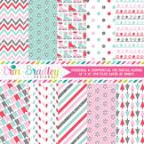 Glittery Winter Digital Paper Pack