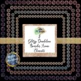 "Glitzy Dandelion Boarder Frame 12"" x12"