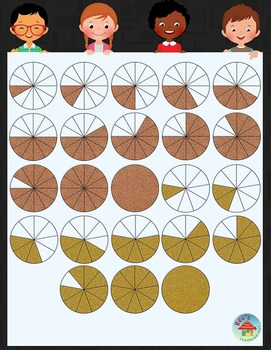 Glitzy Fractions Clip Art Set 2