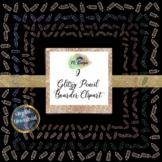 "Glitzy Pencil Boarder Frame 12"" x12"" elements"