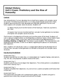 Global 1-2 Unit 2 - Prehistory and the Rise of Humanity Assessment