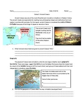Global 1: Ancient Greece