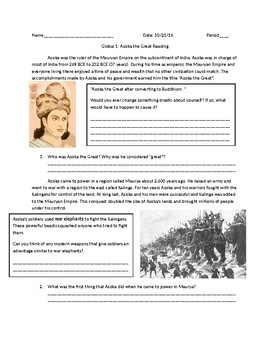 Asoka Worksheets & Teaching Resources | Teachers Pay Teachers
