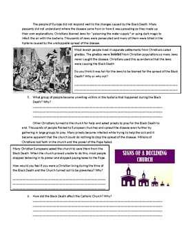 The Black Death Facts, History & Worksheets For Kids