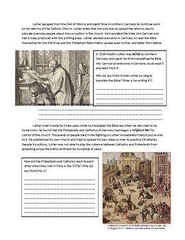 Global 1: Effects of the Protestant Reformation Reading