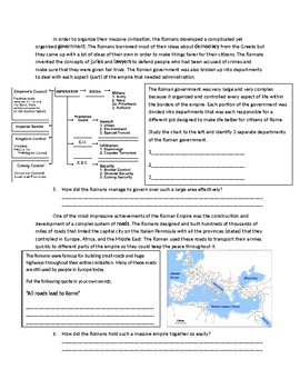 Global 1: Intro to Rome Reading the Worksheet