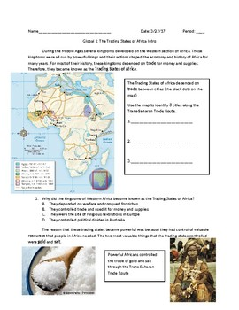 Global 1: Intro to the Trading States of Africa