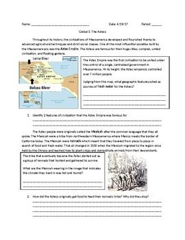 Global 1: Mesoamerica Aztecs