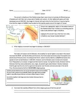Global 1: Origins of Judaism