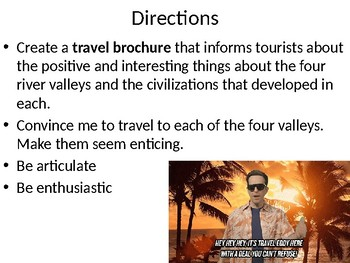 Global 1:  River Valley Travel Brochure Project Directions
