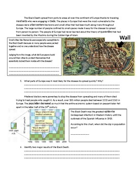 Global 1: The Black Death Middle Ages Guided Reading