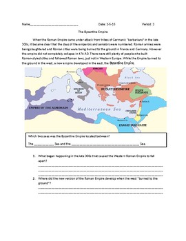 Global 1: The Byzantine Empire and Constantine