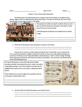 Global 1: The Scientific Revolution Guided Reading