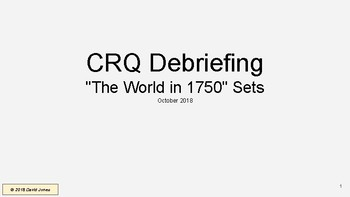 "Global 10 **NEW** Regents Prep. CRQ ""Debriefing"" Training Session"