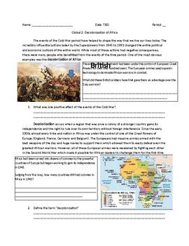 Global 2: Decolonization of Africa