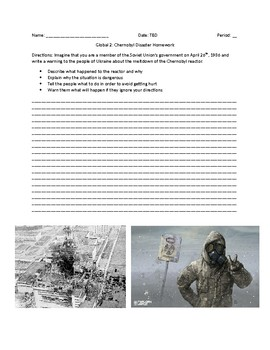 Global 2: Environmental Issues-The Chernobyl Disaster