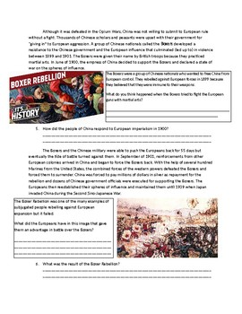Global 2: European Imperialism of Asia