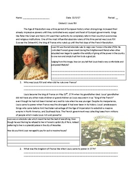 Global 2: Louis XVI and the French Revolution