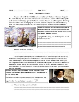 Global 2: The Voyages of Columbus
