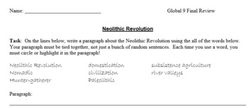 Global 9 Final Review Packet