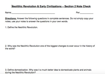 Global 9 - Unit #1 - Neolithic Revolution & River Valley Civilizations