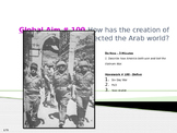Global Aim # 100 How has the creation of Israel affected the Arab world?
