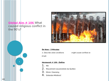 Global Aim # 106 What caused religious conflict in the 90's?