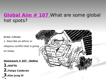 Global Aim # 107 What are some global hot spots?
