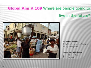 Global Aim # 109 Where are people going to live in the future?