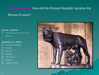 Global Aim # 11 How did the Roman Republic become the Roma