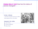 Global Aim # 110 How has the status of women changed?