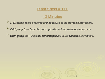 Global Aim # 111 What is the Feminist Movement?