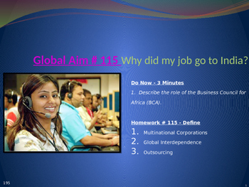 Global Aim # 115 Why did my job go to India?