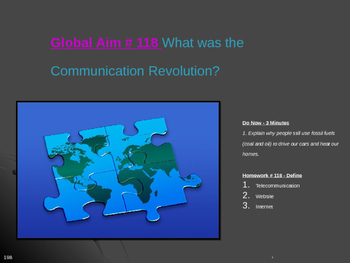 Global Aim # 118 What was the Communication Revolution?