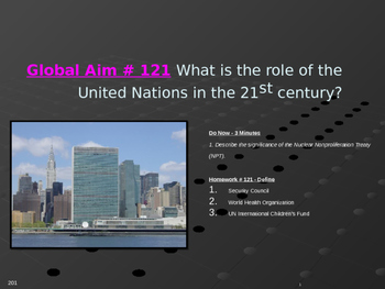 Global Aim # 121 What is the role of the United Nations in