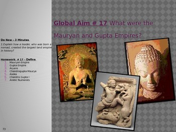 Global Aim # 17 What were the Mauryan and Gupta Empires?