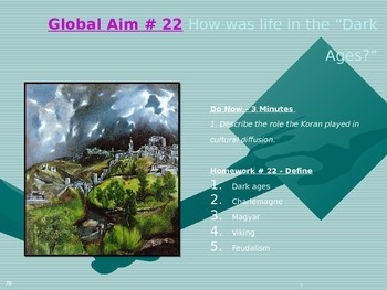 "Global Aim # 22 How was life in the ""Dark Ages?"""