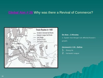 Global Aim # 26 Why was there a Revival of Commerce?