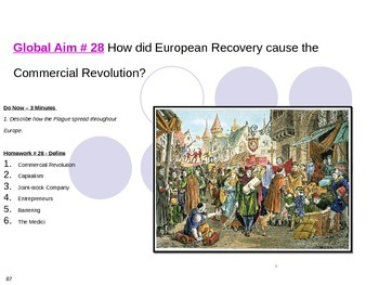 Global Aim # 28 How did European Recovery cause the Commer