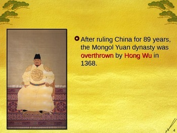 Global Aim # 34 What was the Ming Dynasty in China?