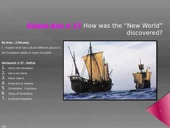 "Global Aim # 37 How was the ""New World"" discovered?"