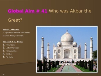 Global Aim # 41 Who was Akbar the Great?
