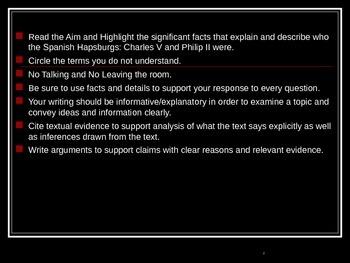 Global Aim # 42 Who were The Spanish Hapsburgs: Charles V and Philip II?