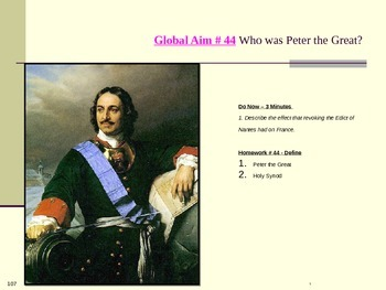 Global Aim # 44 Who was Peter the Great?