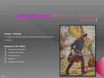 Global Aim # 50 Who were the Enlightened Despots?