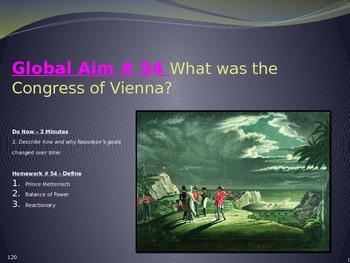 Global Aim # 54 What was the Congress of Vienna?