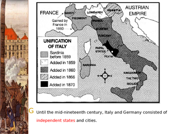 Global Aim # 66 What led to the Unification of Italy and Germany?