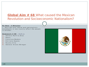 Global Aim # 68 What was the Mexican Revolution and Socioeconomic Nationalism?
