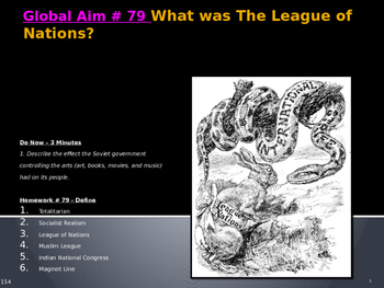 Global Aim # 79 What was The League of Nations?