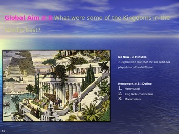 Global Aim # 8 What were some of the Kingdoms in the Middle East?